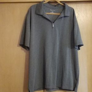 Men's zip neck polo
